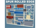 Spur Rolled Edge Shelving