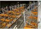 Pallet racking with skid channels
