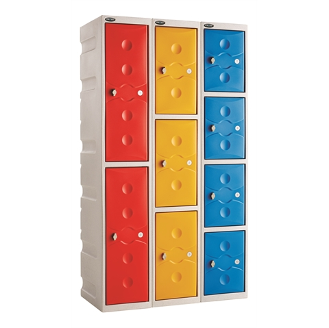 Full Height Plastic Lockers
