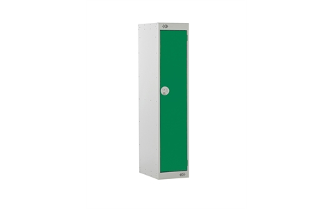 1 Door Three Quarter Height Locker - 1382h x 300w x 300d mm - CAM Lock - Door Colour Green