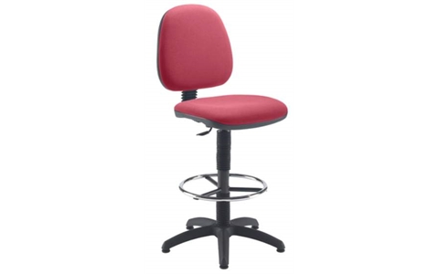 Zoom Draughting Chair Fixed Ring Claret