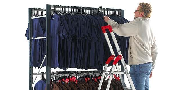 Garment Hanging Shelving